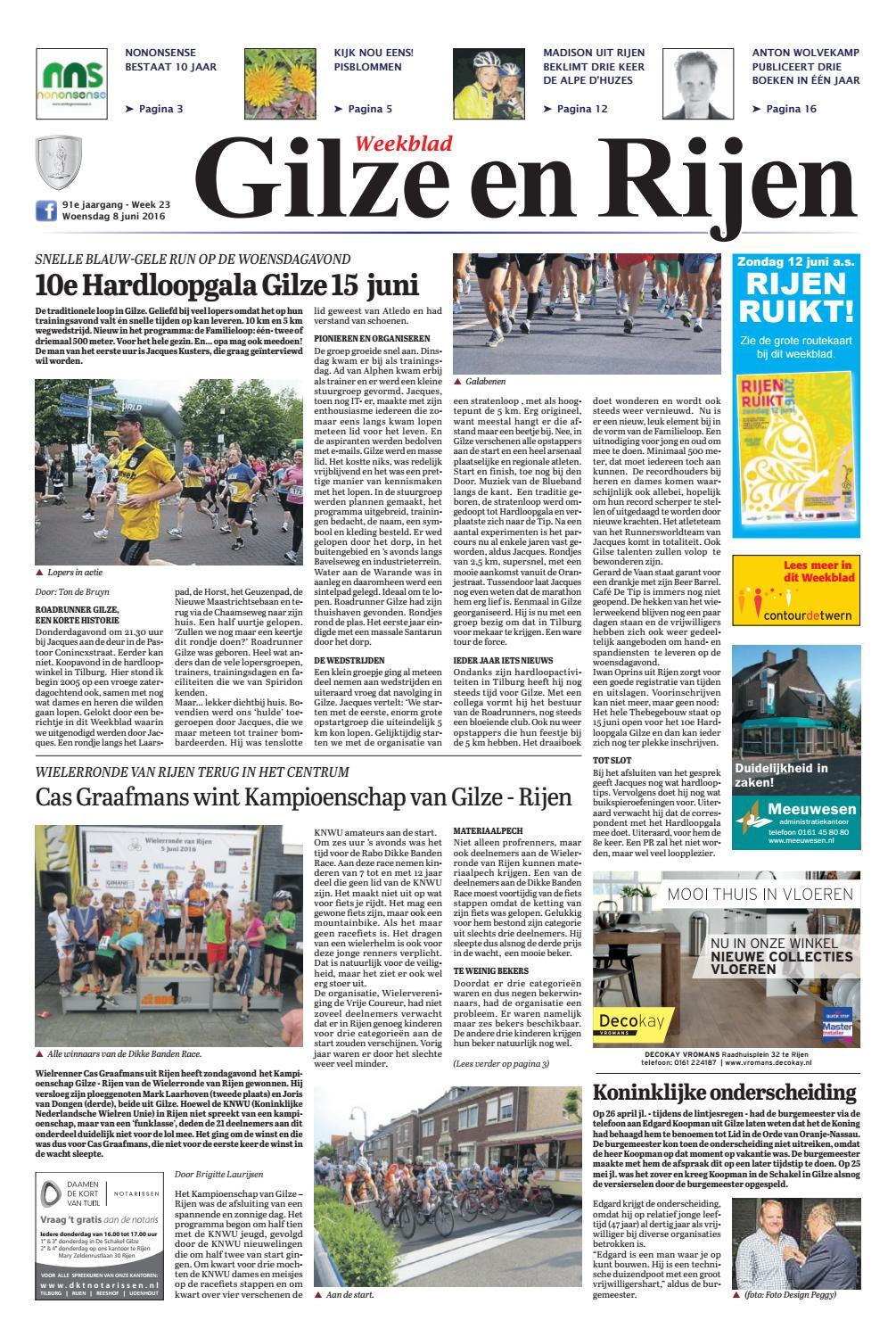 bbff2bf0584 Weekblad Gilze en Rijen 08-06-2016 by Uitgeverij Em de Jong - issuu