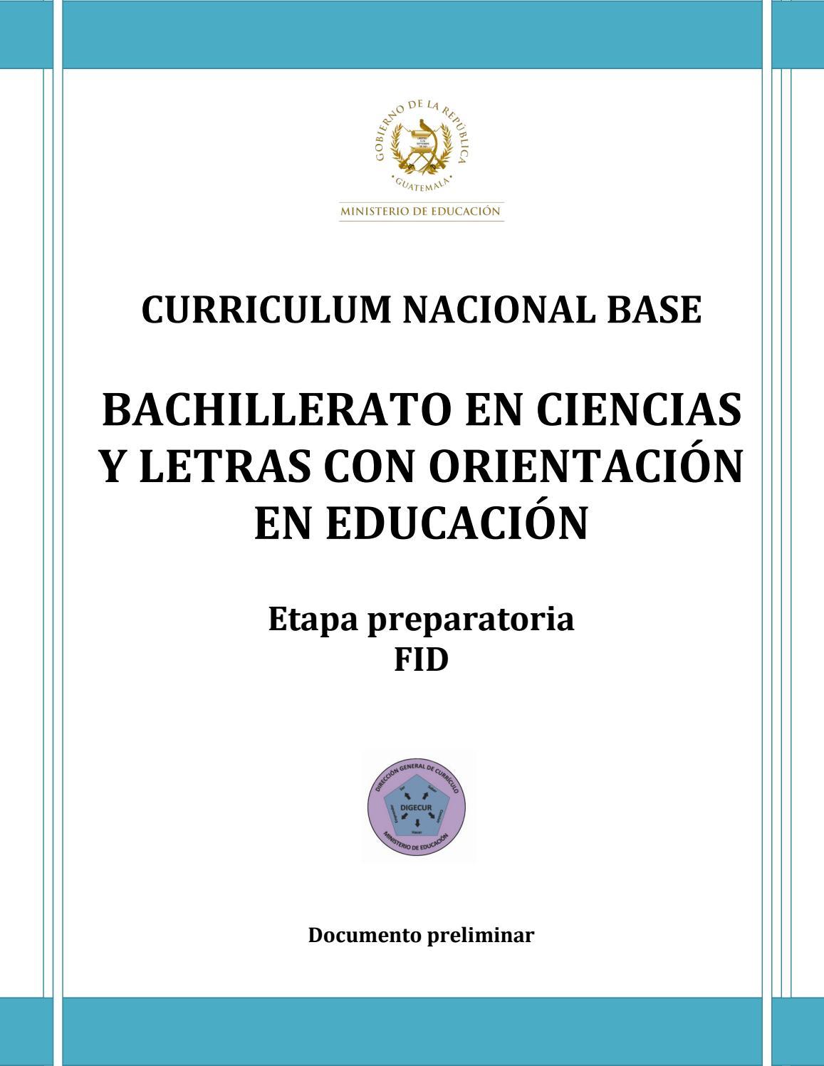 Curriculum nacional base bachillerato en ciencias y letras con ...