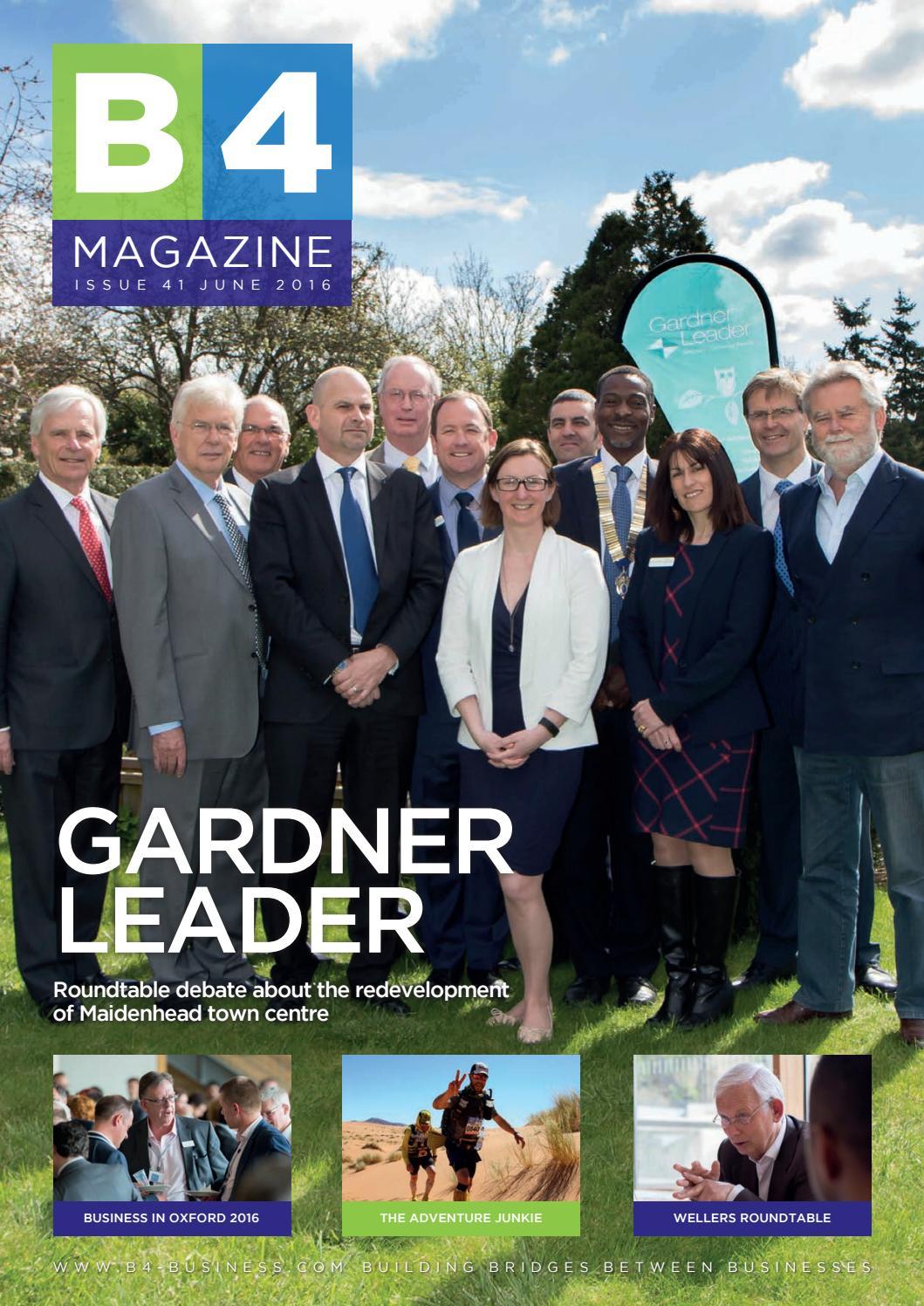 3461b61ea1 B4 41 Gardner Leader Issue by B4 Magazine - issuu