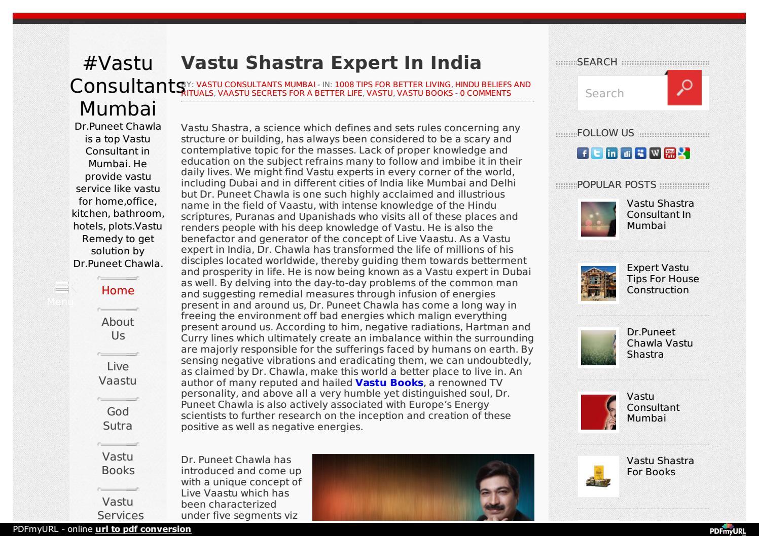 Vastu Shastra Expert In India by Vastuservices - issuu