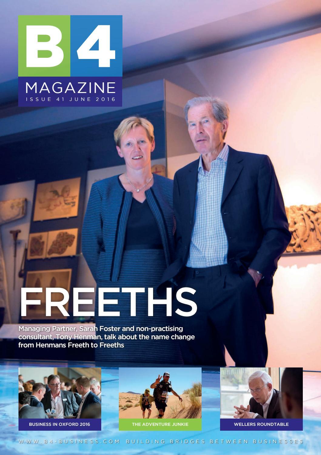 be384f5c54 B4 41 Freeths Issue by B4 Magazine - issuu