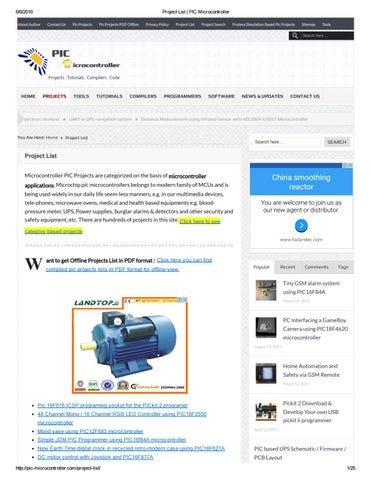1060 projects list of pic microcontroller by james87845 - issuu