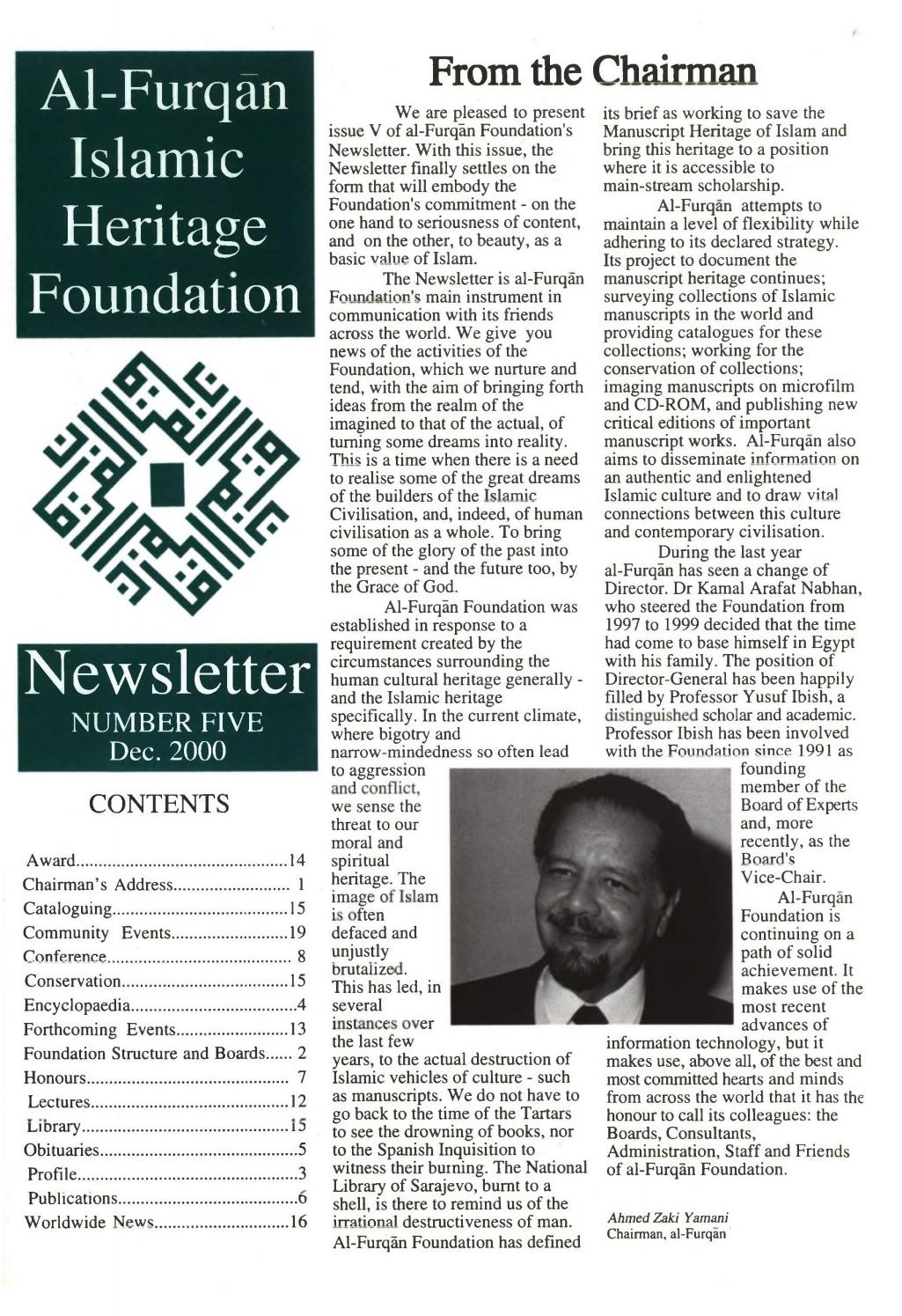 Newsletter No  5 - Dec  2000 by Al-Furqan Islamic Heritage