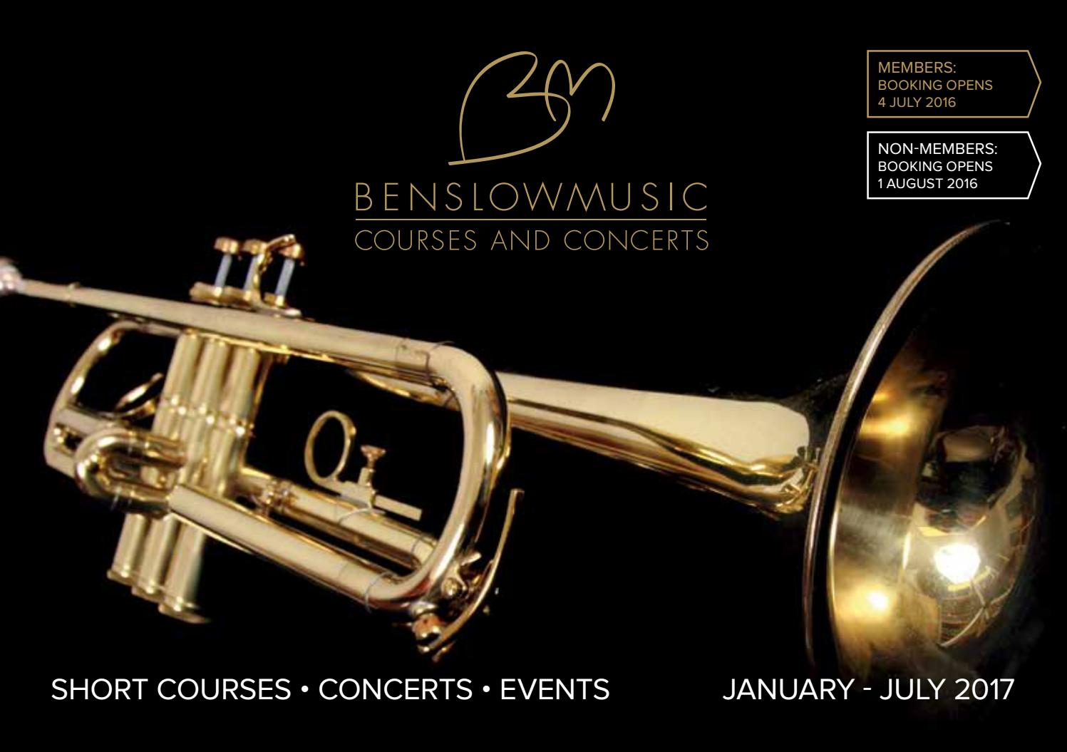 Benslow Music Course Brochure Jan-Jul 2017 by Benslow Music