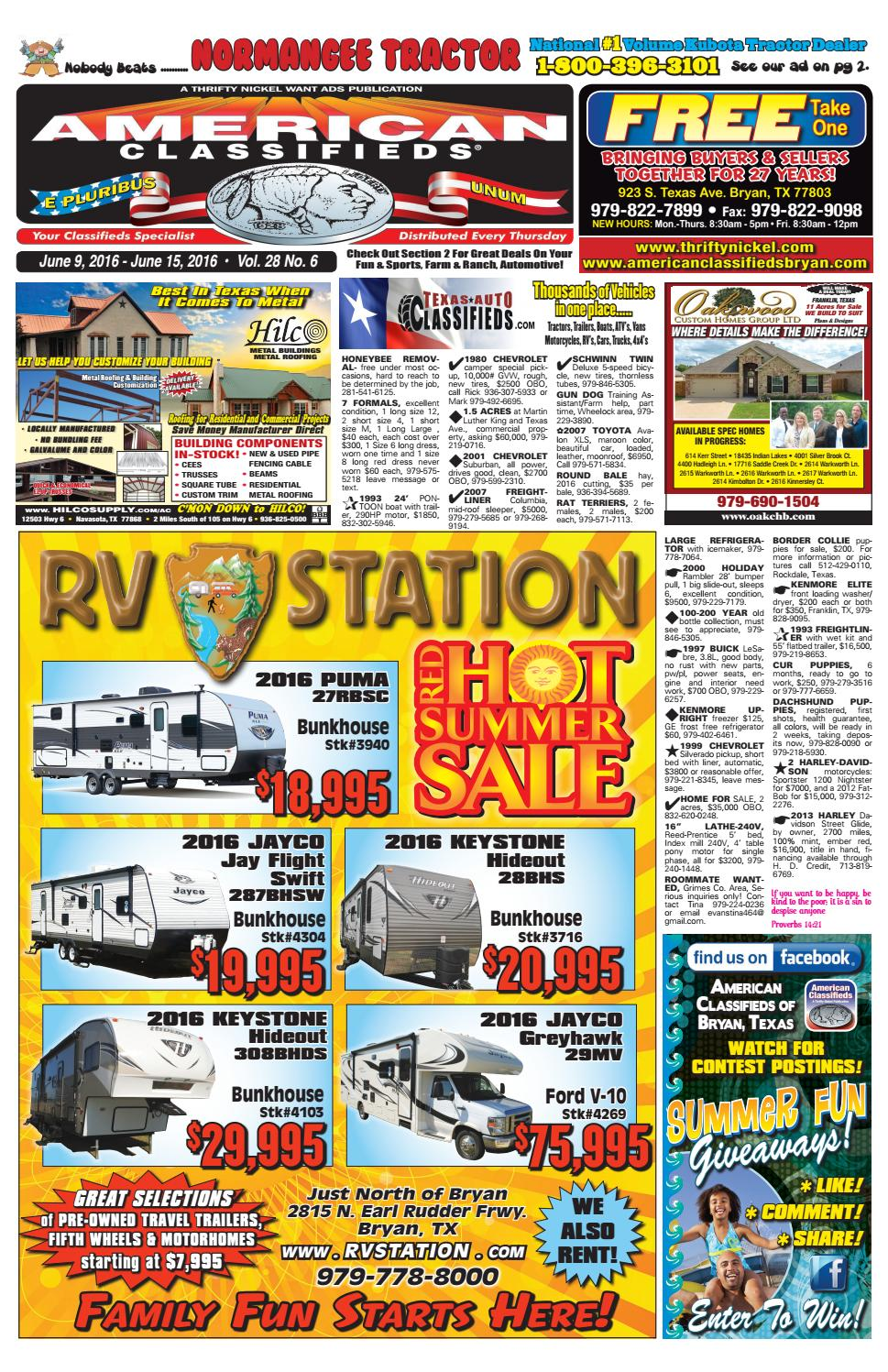American Classifieds June 9th Edition Bryan/College Station