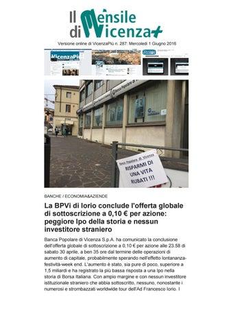 65827f7d3f Versione online di VicenzaPiù n. 287: Mercoledi 1 Giugno 2016