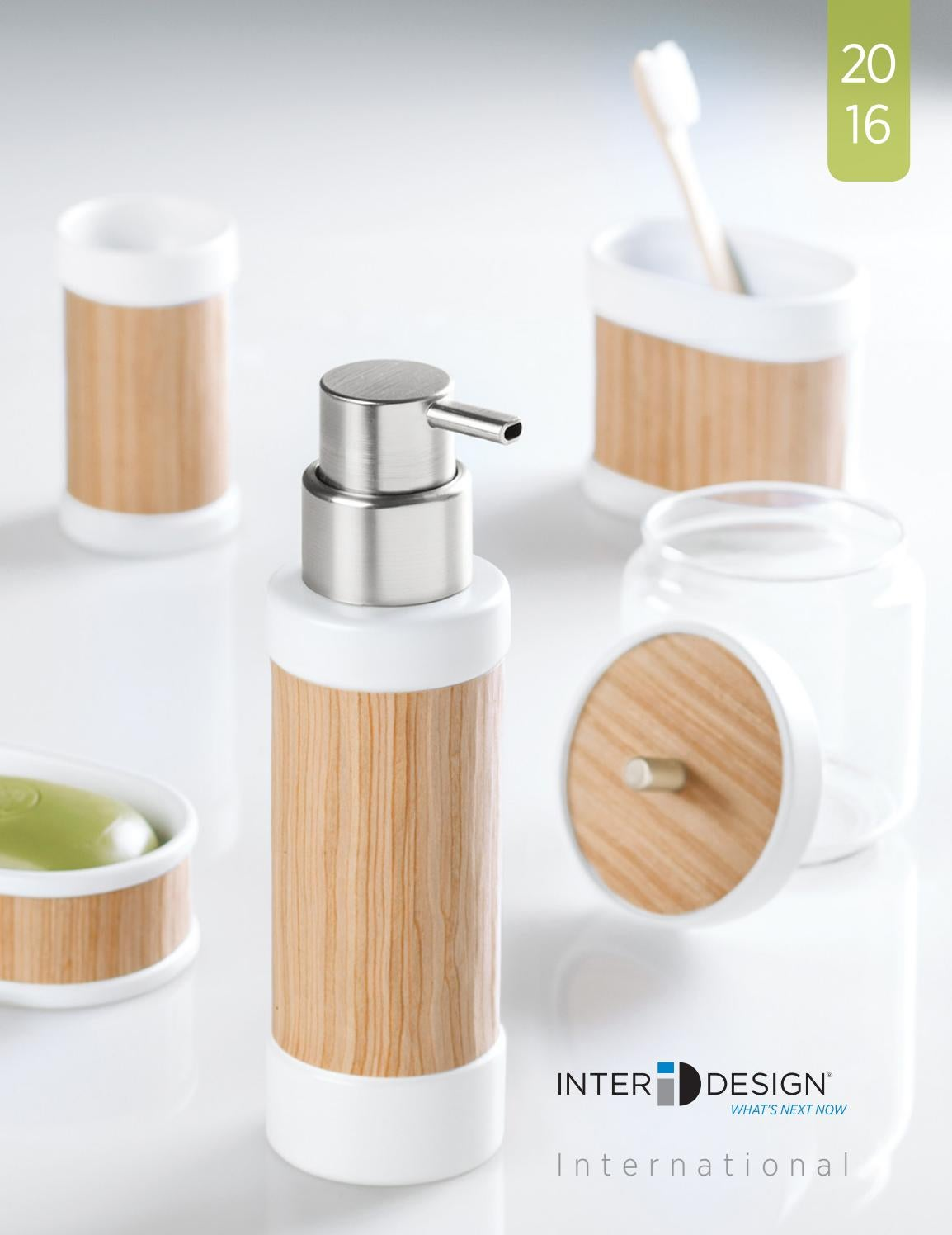 Clear//Chrome Double Soap Pump for the Bathroom InterDesign York Soap Dispenser Made of Plastic