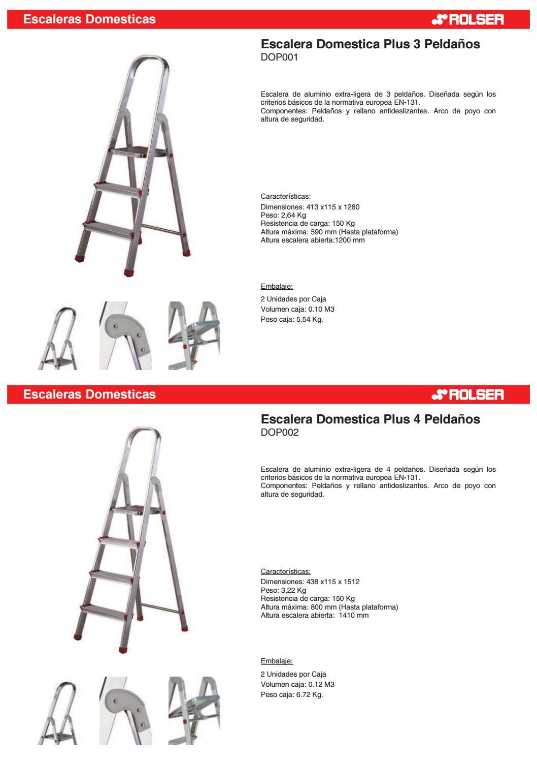 Rolser catalogo escaleras domestica plus by libef issuu for Escalera rolser 3 peldanos