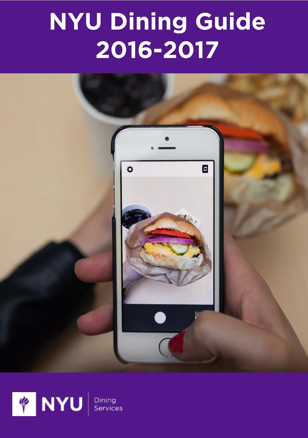 NYU Dining Guide 2016-2017 by NYU Campus Services - issuu