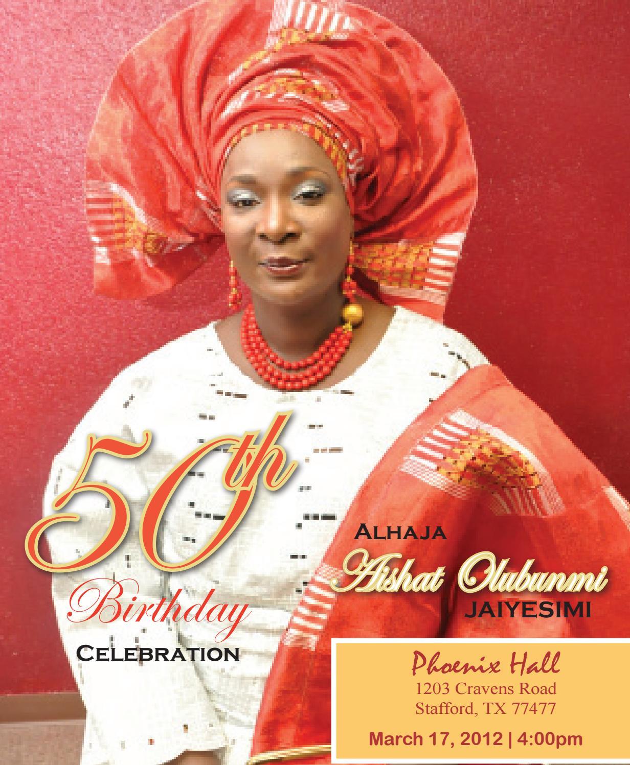 50th birthday program - mama hakeem by dexpressionz