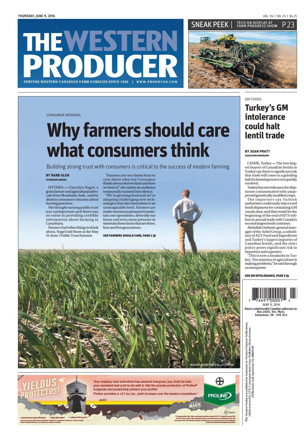The western producer june 9, 2016 by The Western Producer