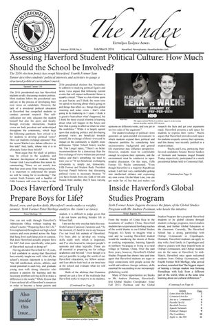 The Haverford Index - February 2016 by The Haverford Index