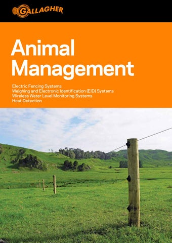 Animal Management New Zealand by GALLAGHER GROUP LTD - issuu on