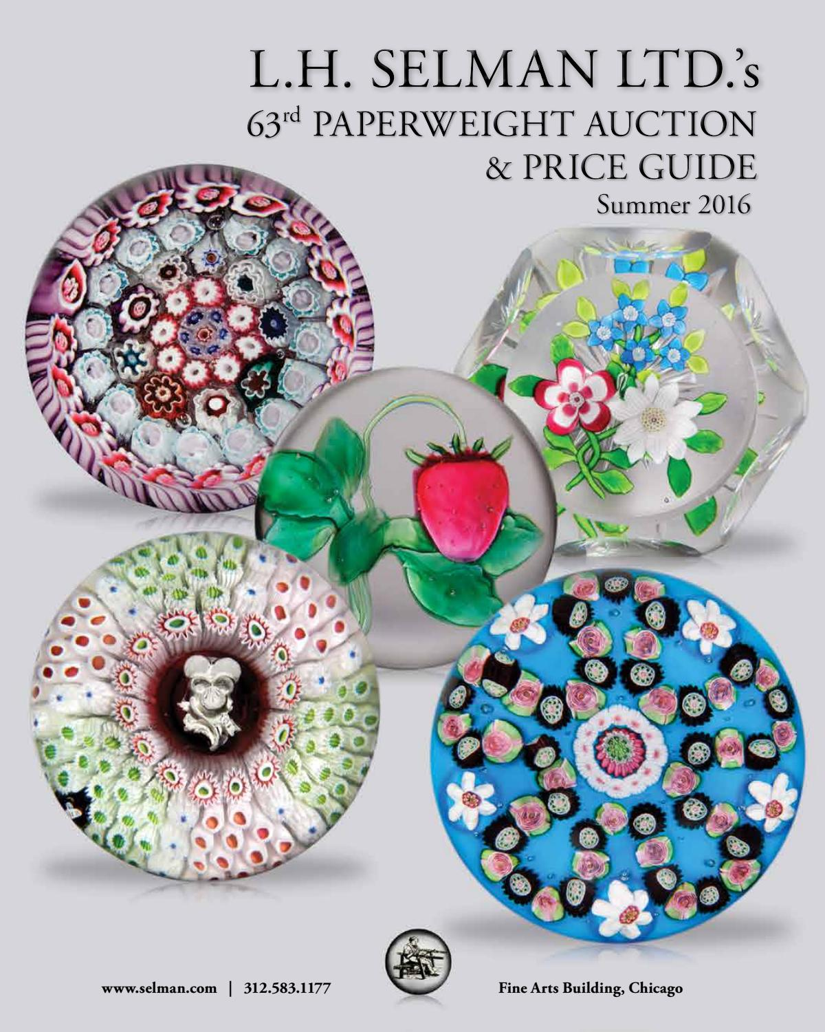 Lh Selman Ltds 63rd Paperweight Auction Price Guide Summer