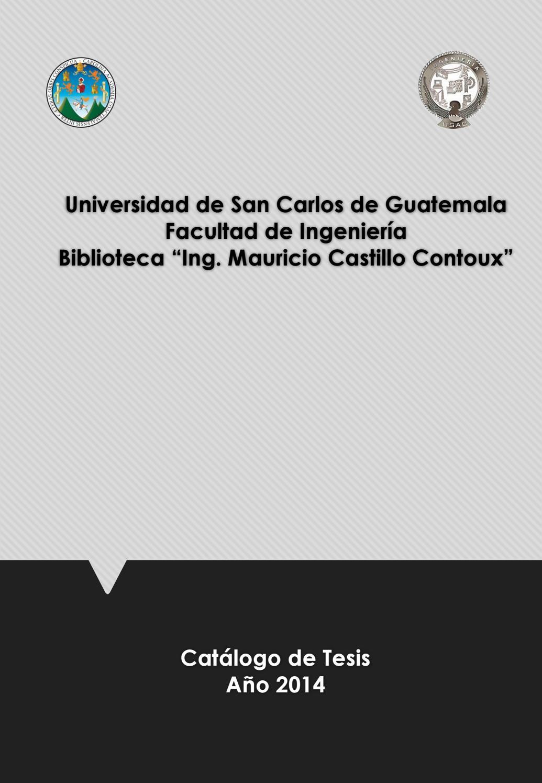 By Usac 2014 Issuu Ingeniería Tesis Biblioteca De Faculta 0nwv8OmN