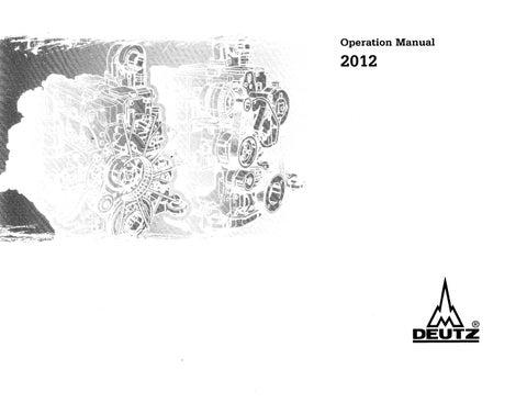 Deutz 2012 operation manual by albert issuu operation manual sciox Gallery