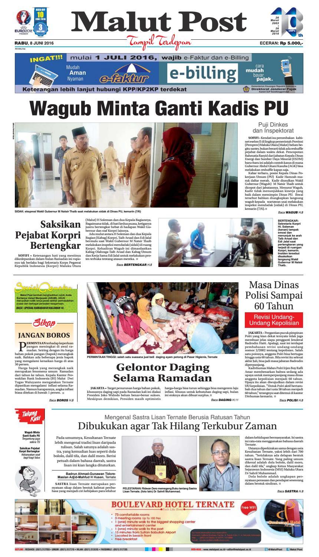 Malut Post 08 Juni 2016 By Issuu Produk Ukm Bumn Pasmina Glitter