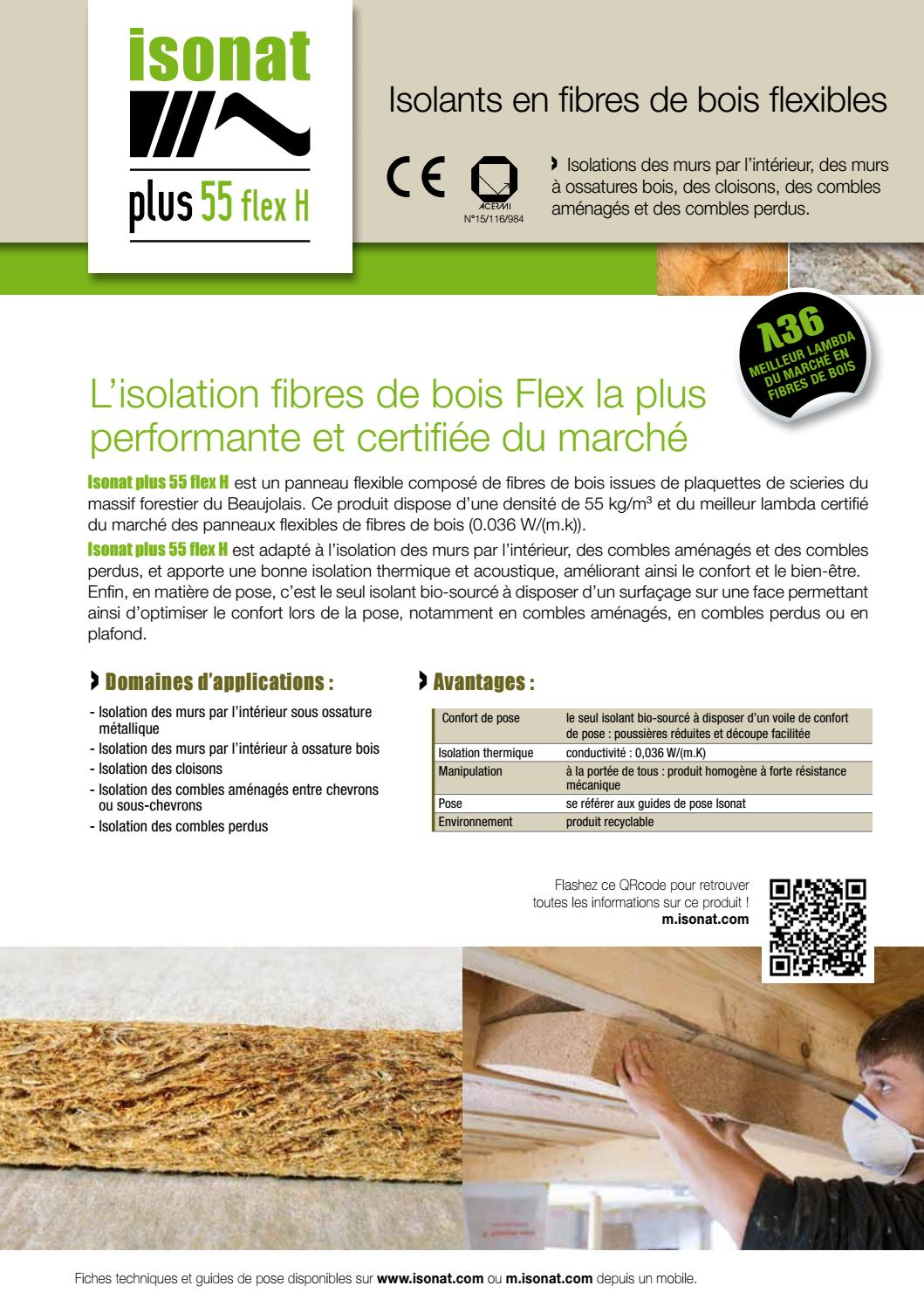 Fiche isonat 55 flex h by isonat issuu for Isonat plus 55 flex
