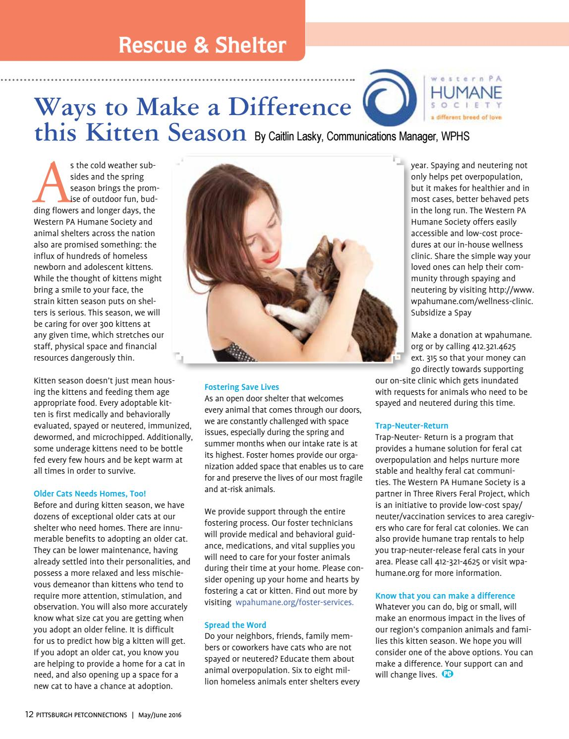 Pittsburgh Petconnections May-June 2016 Vol  4 Issue 5 by