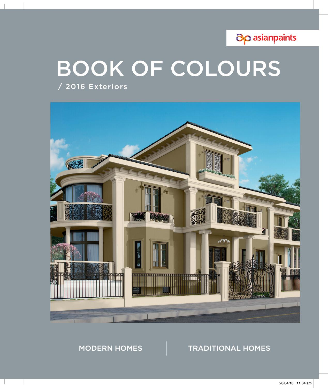 Bookofcolours by asian paints limited issuu - Asian paints color shades for exterior ...