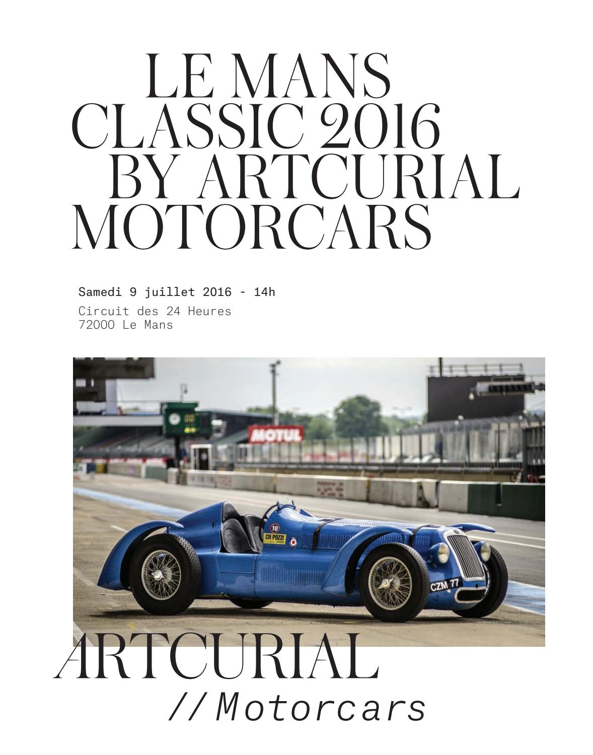 le mans classic 2016 by artcurial motorcars by artcurial issuu. Black Bedroom Furniture Sets. Home Design Ideas