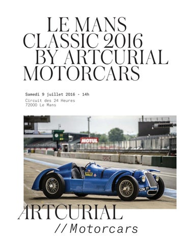 Le Mans Classic 2016 by Artcurial Motorcars by Artcurial - issuu a7b4abf70ec