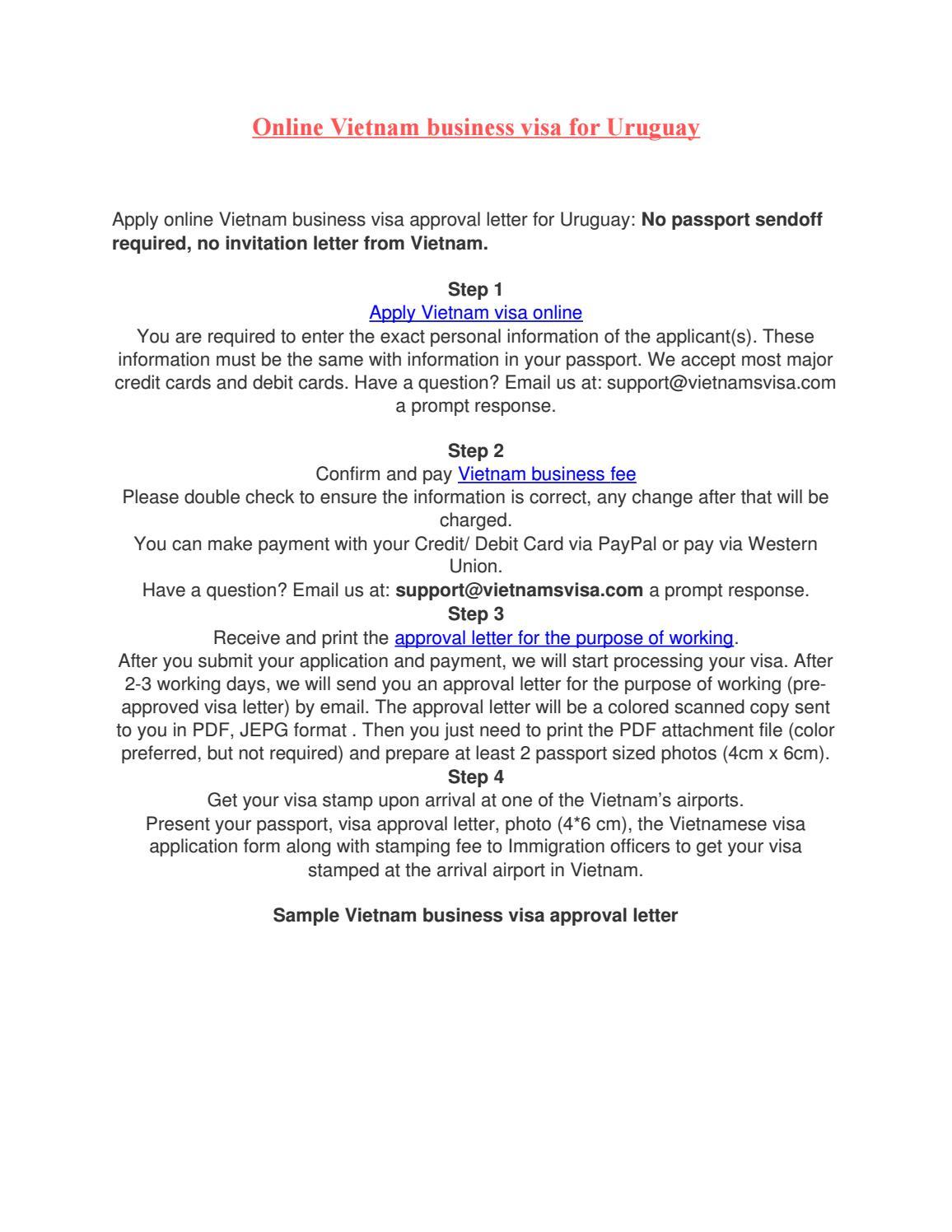 Online vietnam business visa for uruguay by vietnamsvisa online vietnam business visa for uruguay by vietnamsvisa vietnam visa on arrival vietnam visa online issuu spiritdancerdesigns Images