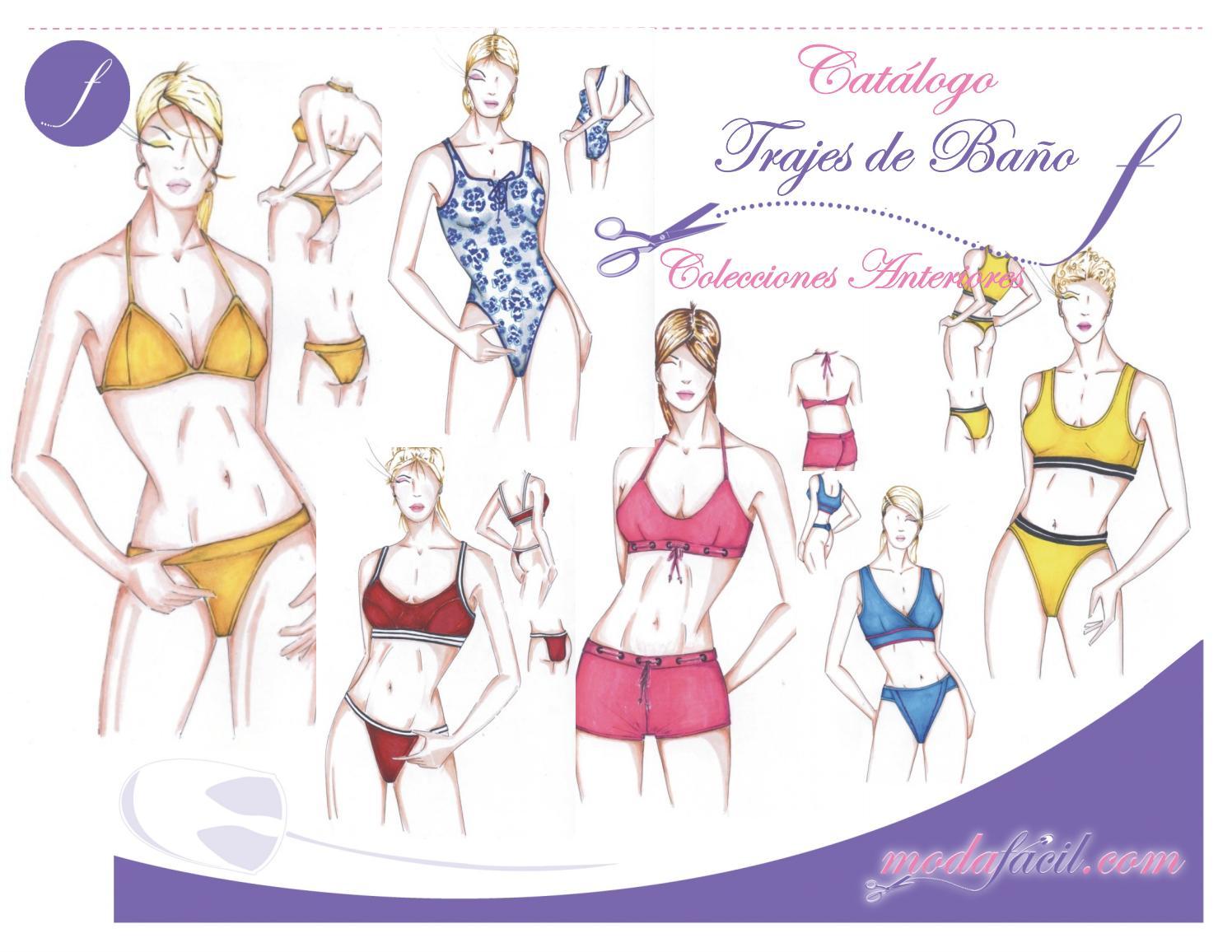 Único Baño Traje Patrones De Costura Embellecimiento - Ideas de ...