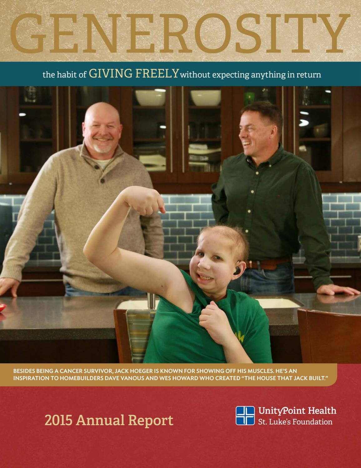 Unitypoint Health St Luke S Foundation 2015 Annual Report