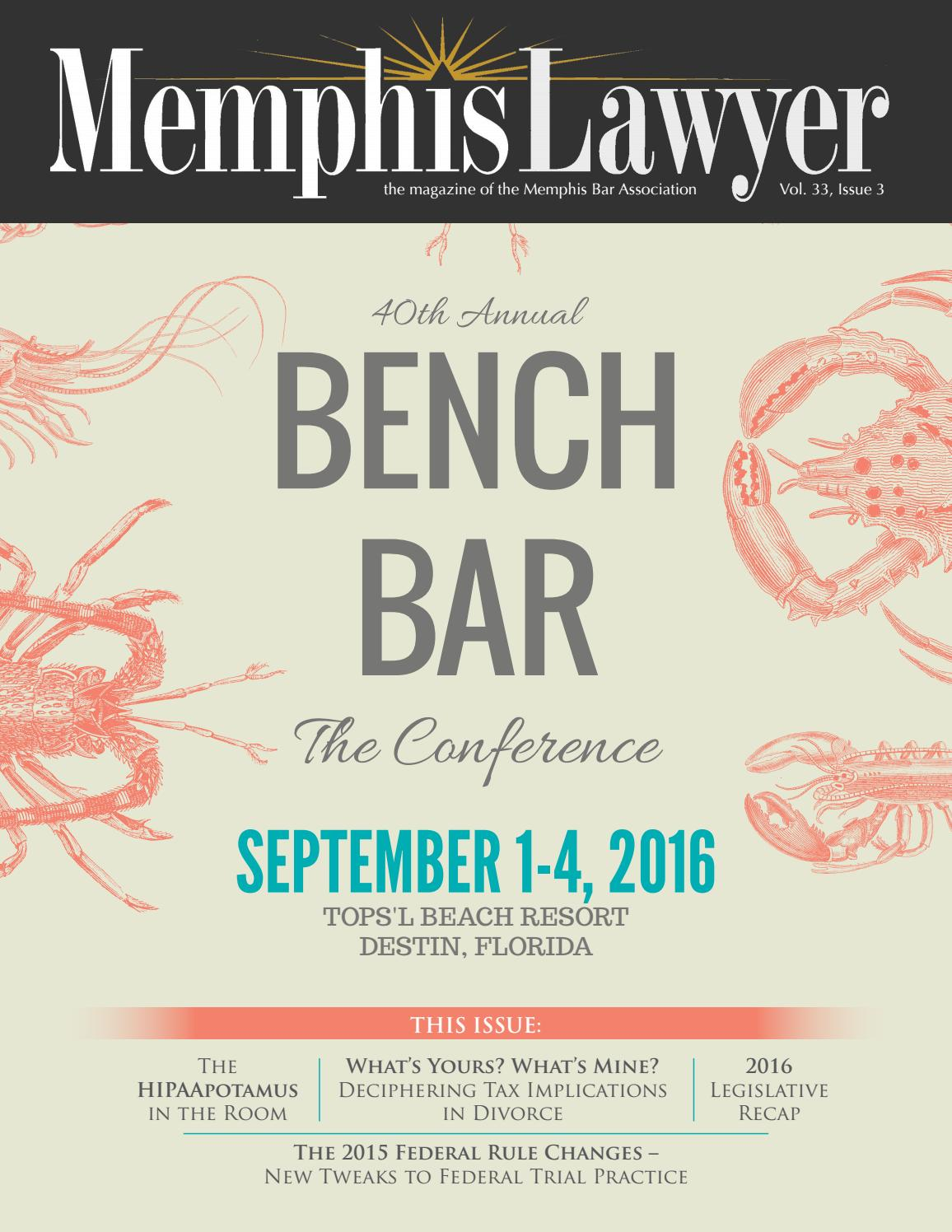 Memphis Lawyer Volume 33, Issue 3 by Memphis Bar Association