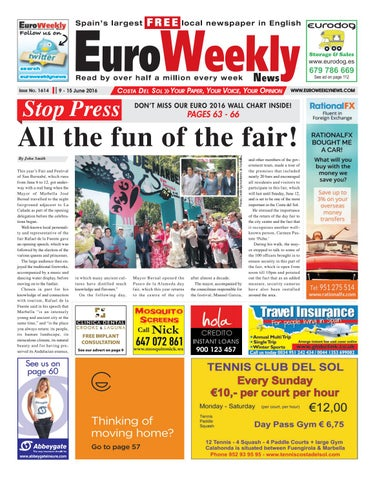 wholesale dealer 93c5f e1009 Euro Weekly News - Costa del Sol 9 - 15 June 2016 Issue 1614 by Euro ...