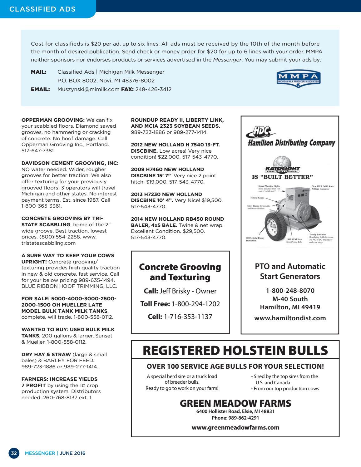 Michigan Milk Messenger: June 2016 by Michigan Milk