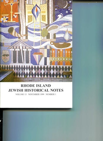 76627984b0a RIJH Notes Volume 13.1 (Nov. 1999) by Rhode Island Jewish Historical ...