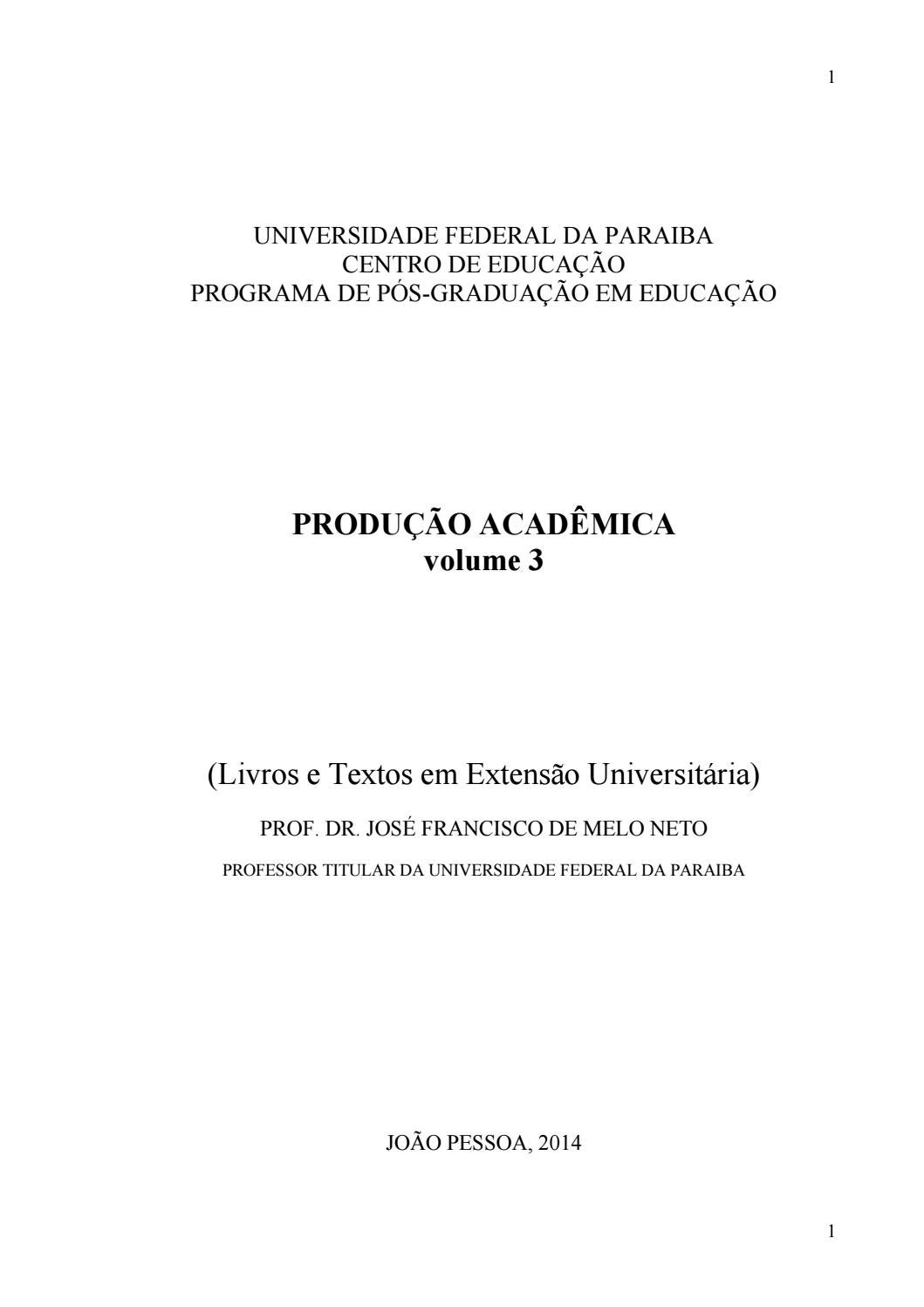 Volume 3 produ o acad mica jos neto by academia de cultura col nia leopoldin issuu