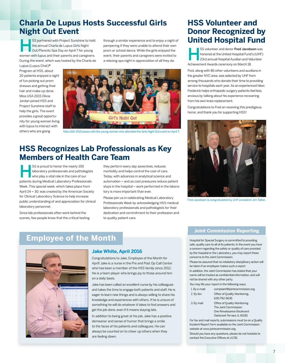 HSS Echo April 2016 by Hospital for Special Surgery - issuu