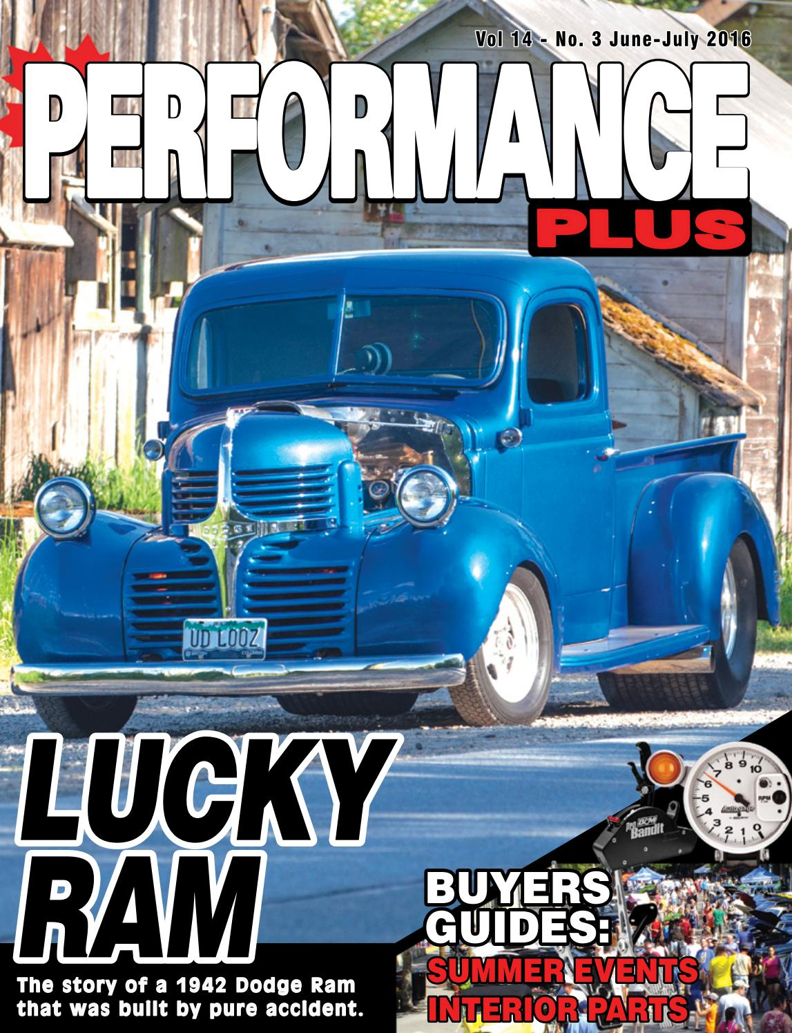 Perf Plus June July 2016 Issuu By Rpm Canada 1942 Dodge Coe Truck