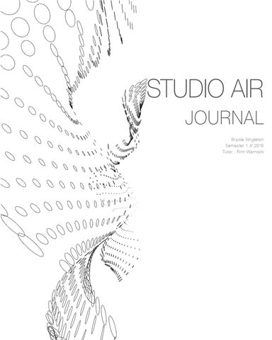 Brydie Singleton Studio Air Final Journal By Brydie Singleton