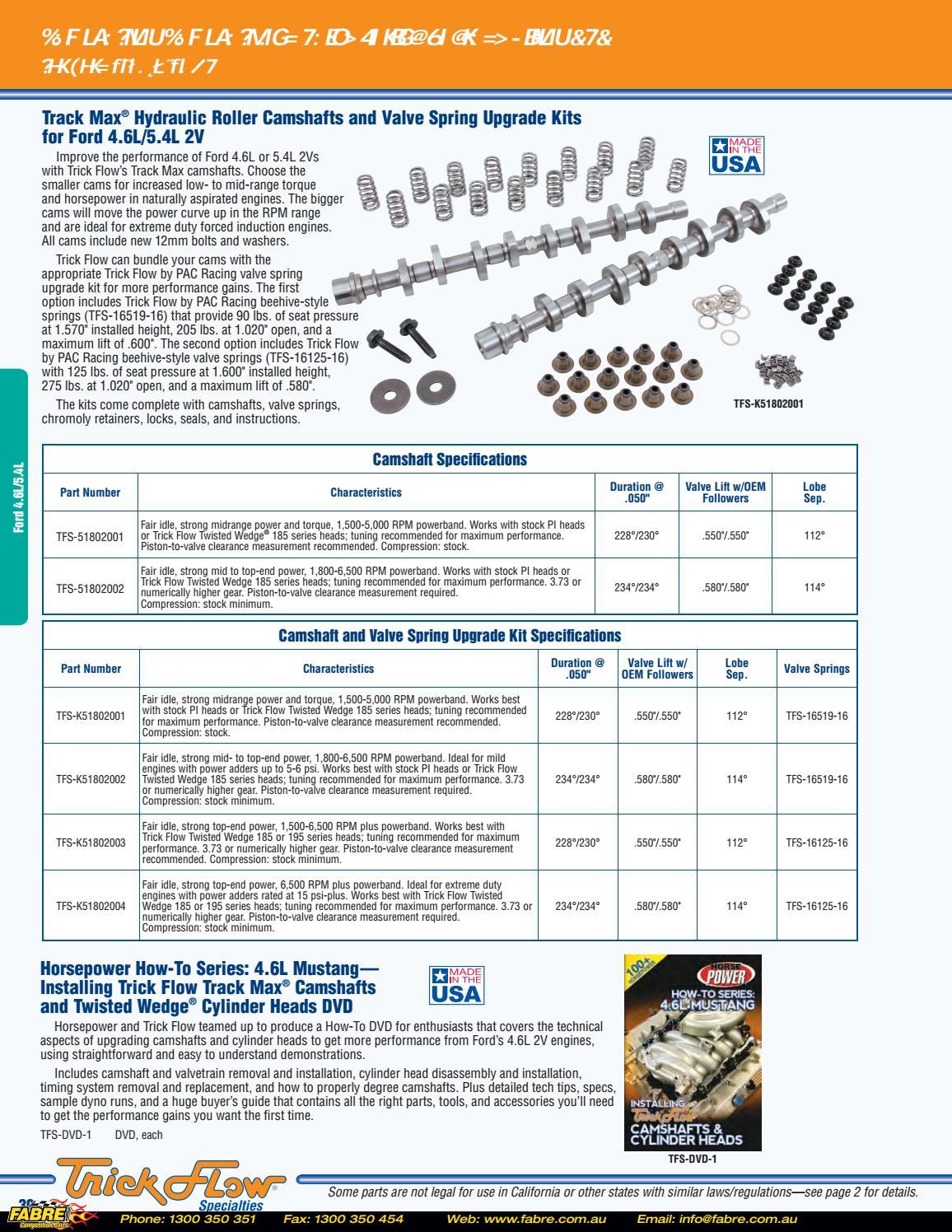 2016 Trick Flow Catalog by Fabre Australia - issuu