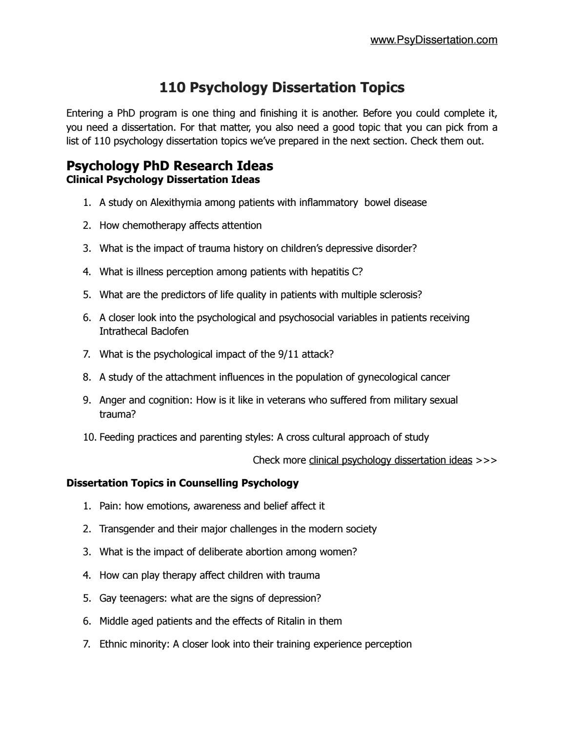 sport therapy dissertation topics