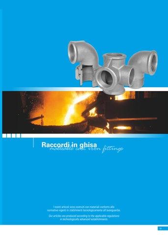catalogo raccordo ghisa gas