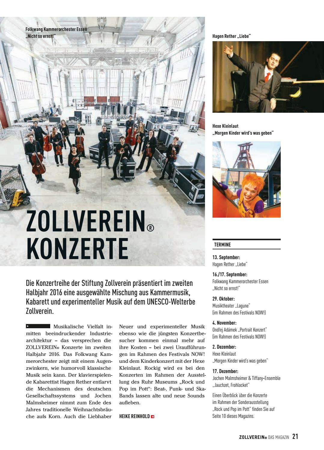 ZOLLVEREIN® Das Magazin Ausgabe 3/2016 by Zeche Zollverein - issuu
