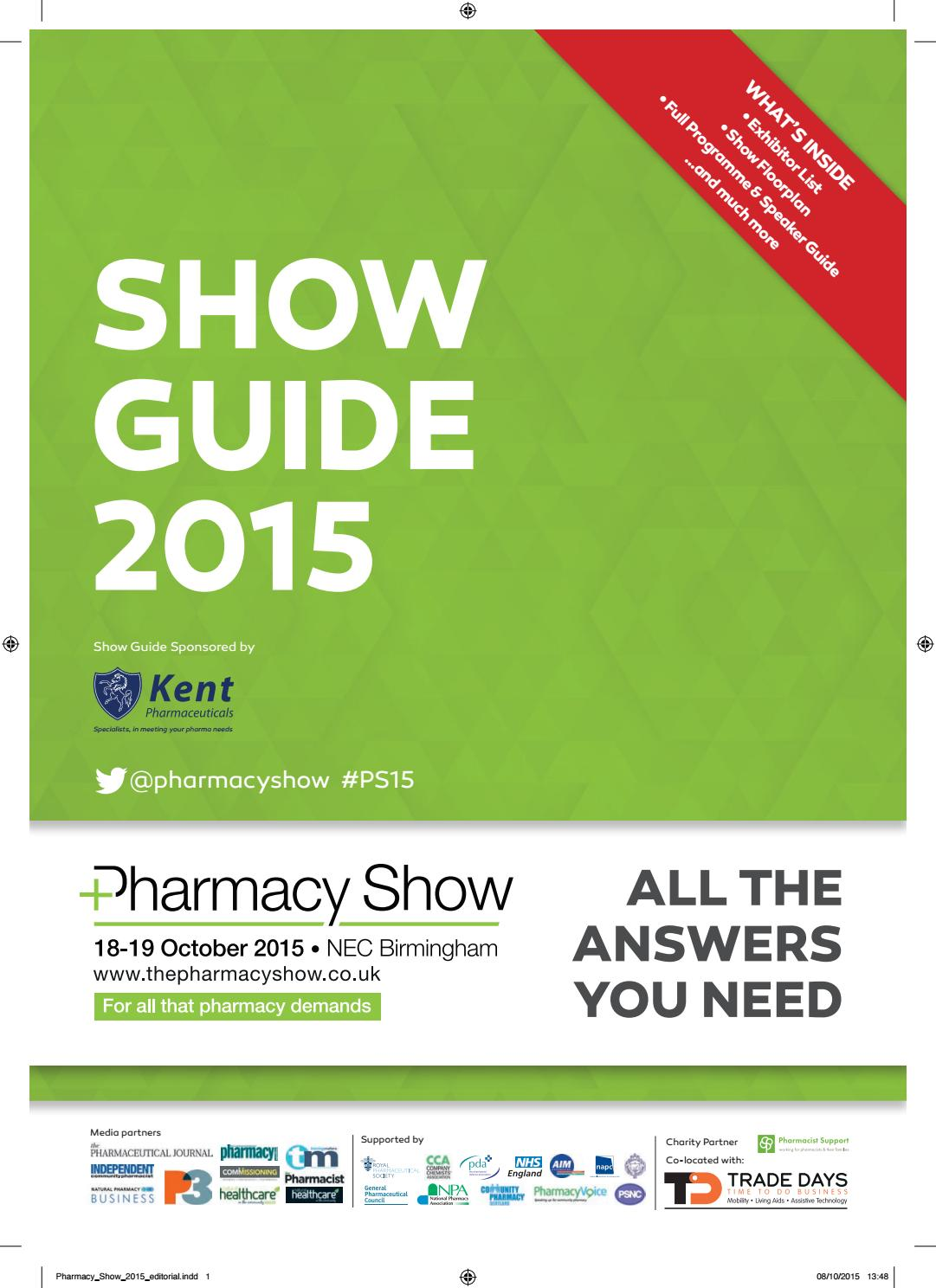 4674664fae1 Pharmacy Show 2015 Show Guide by CloserStill Media - issuu