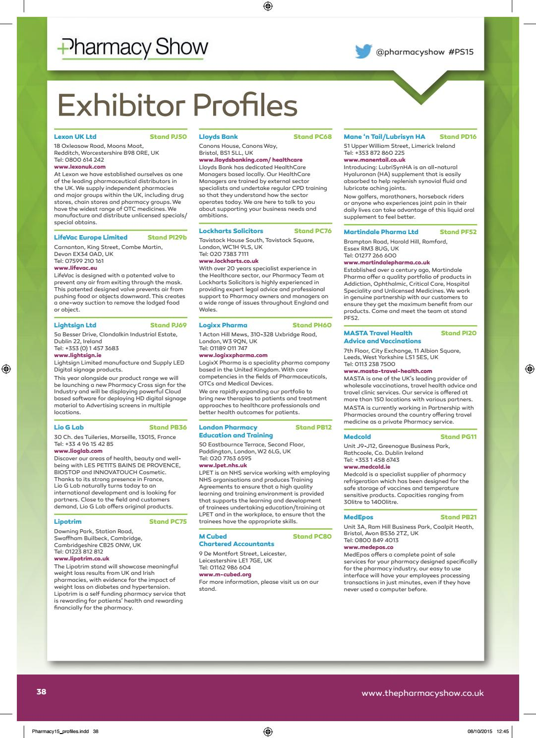 Pharmacy Show 2015 Show Guide by CloserStill Media - issuu