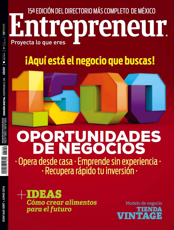 Entrepreneur 2016 1500 franquicias ayudasmas com by Ayudas Más Franquicias  - issuu ddc781a71fe5