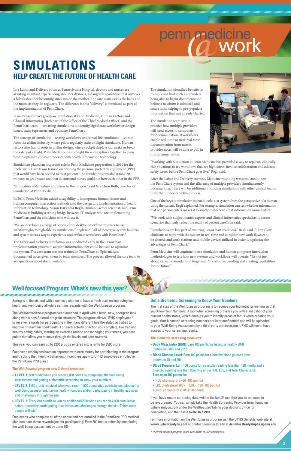Digital Edition of System News - 6/10/2016 by Penn Medicine