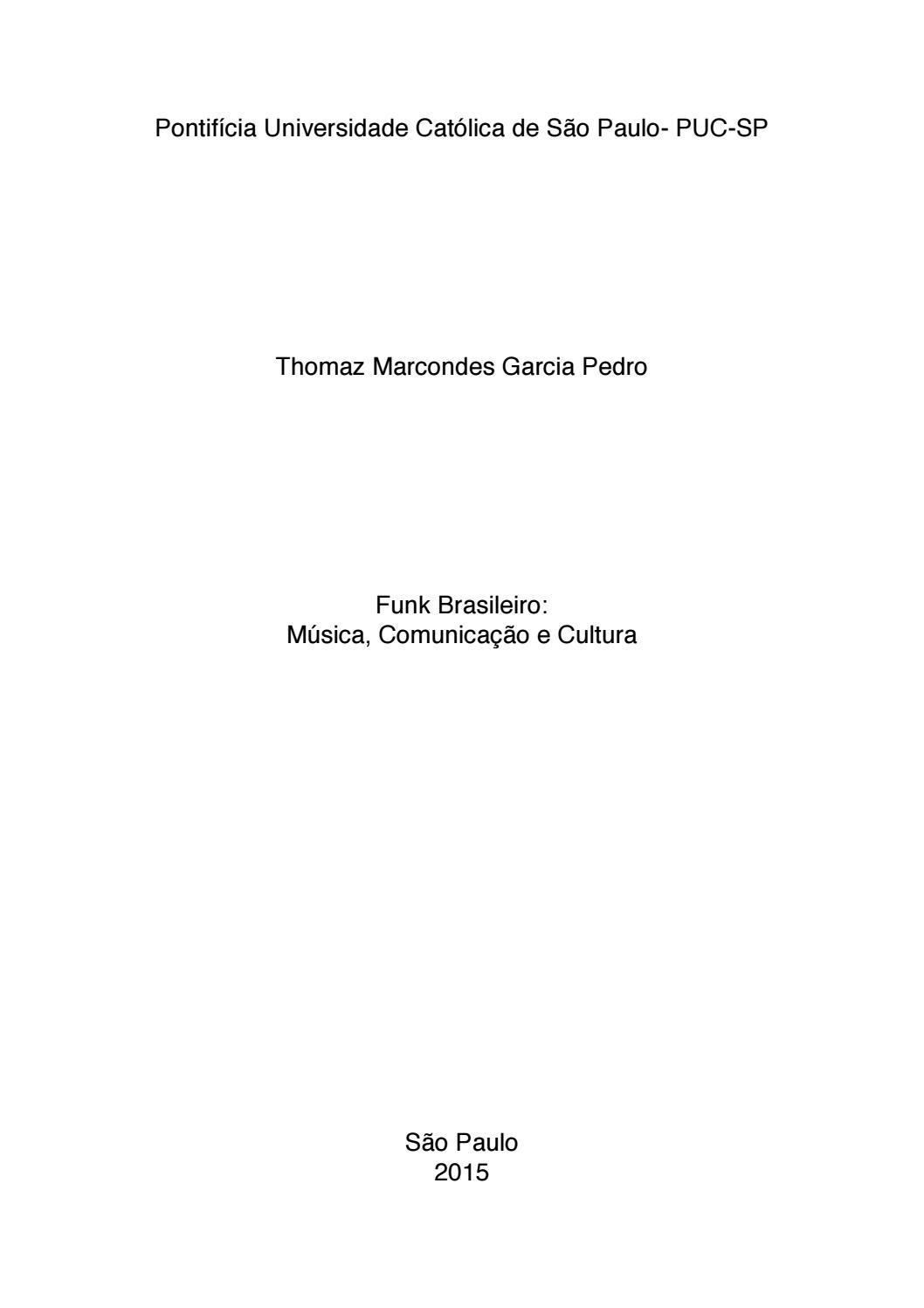 Funk brasileiro musica comunicacao e cul by Biblioteca UNEARTE Música -  issuu 7ad043c4f4d