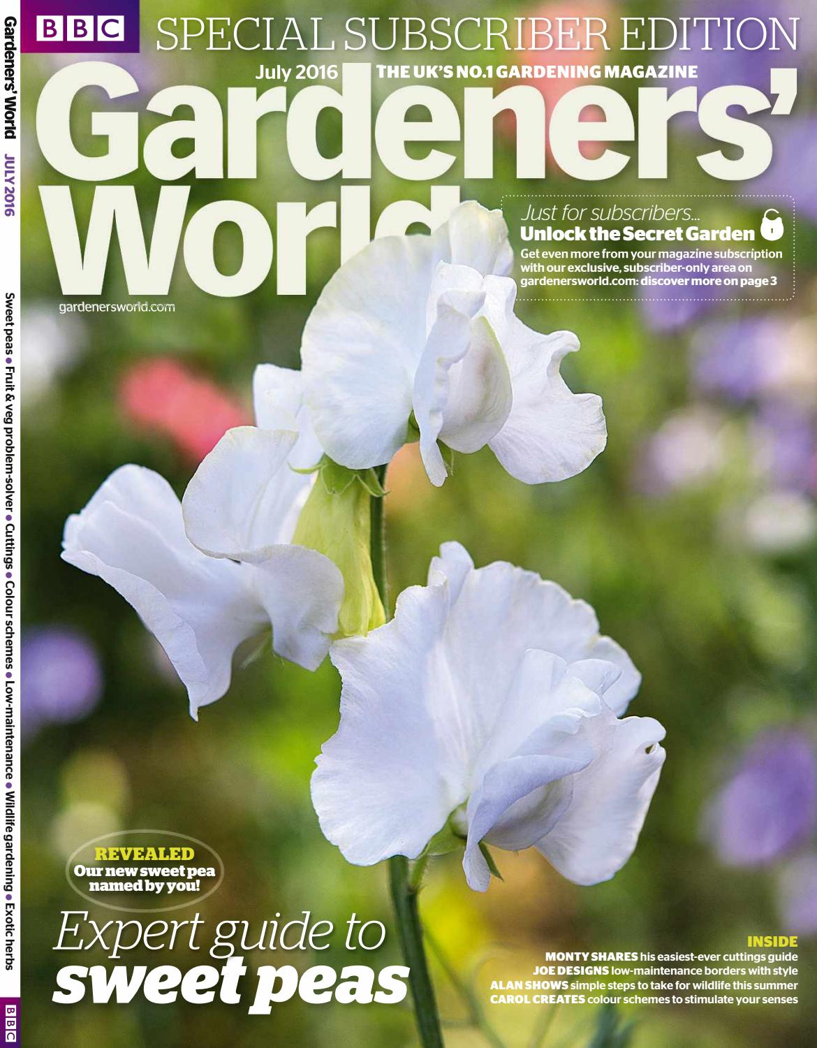 BBC Gardeners World Magazine Sample Issue By Immediate Media Co Magazines    Issuu