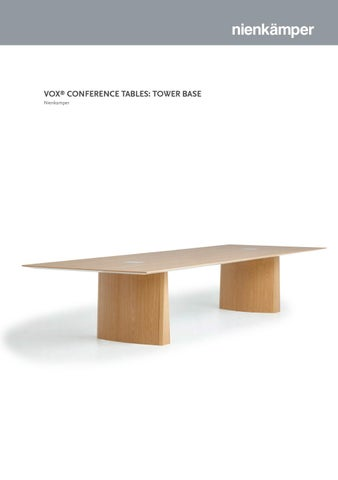 Vox Conference Table Tower Base By Nienkamper Issuu - Vox conference table