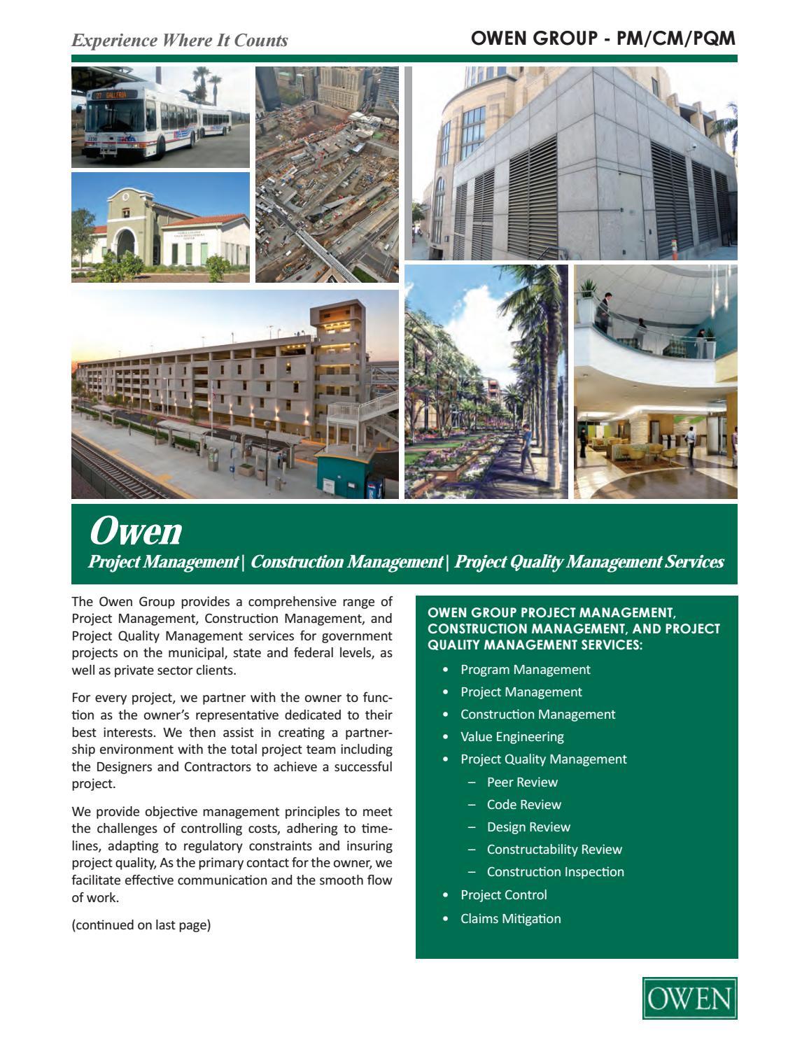 Construction Management - General by Owen Admin - issuu