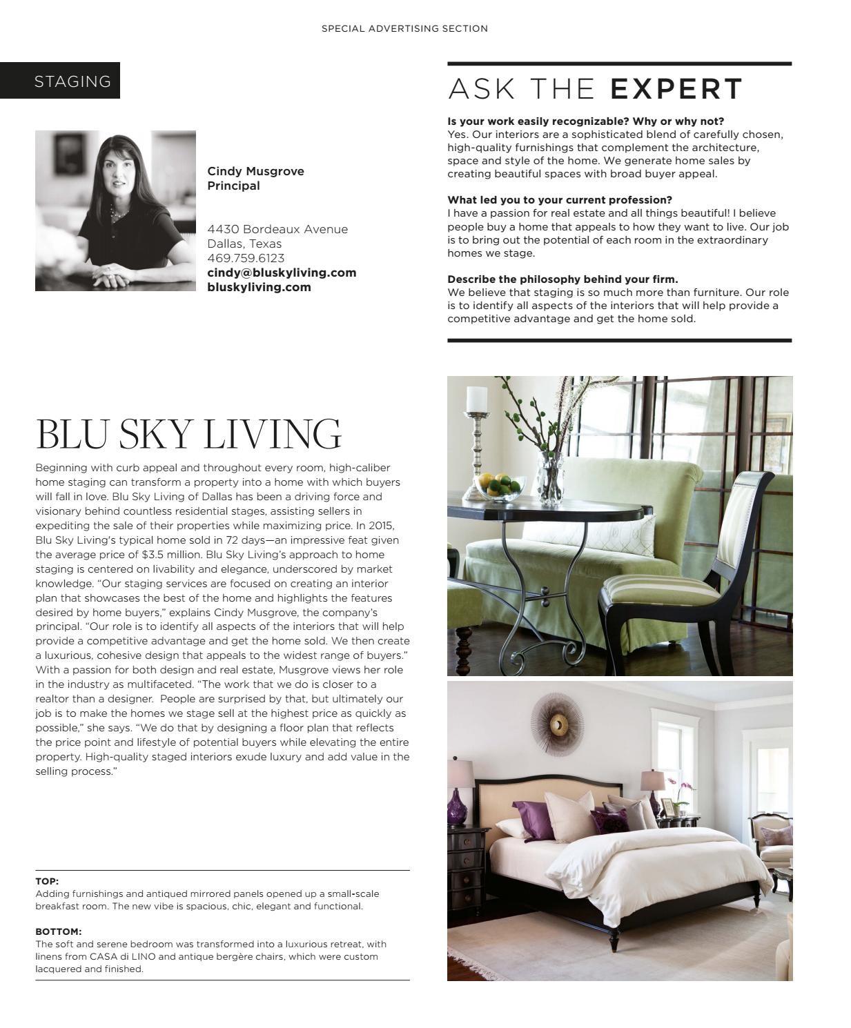Home Staging Bordeaux luxe magazine july 2016 dallassandow® - issuu